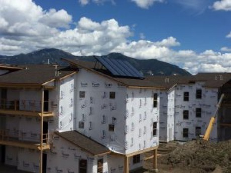 Larkspur Commons solar installation in Bozeman