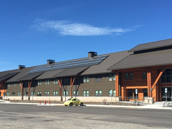 The newly completed LEED-Platinum Paintbrush Dormitory
