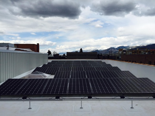 Rooftop solar in Bozeman, Montana!  15 S. Tracy array mid-installation