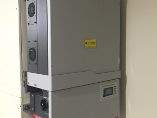 This Solectria 28 kW inverter is rated to 1000 Volts DC, allowing the solar array to be wired with only five circuits