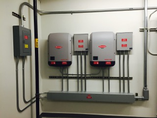 Butte Justice Center inverters and fused solar array combiner boxes