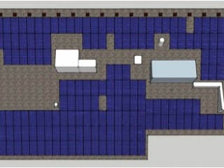 Pre-construction solar array layout drawing