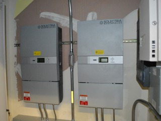 Inverters Located in Mechanical Room
