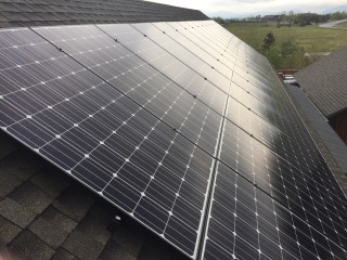 8.4 kW solar array consisting of thirty LG 280-Watt solar modules