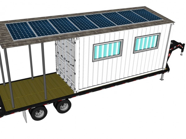 Initial conceptual rendering of the mobile training lab