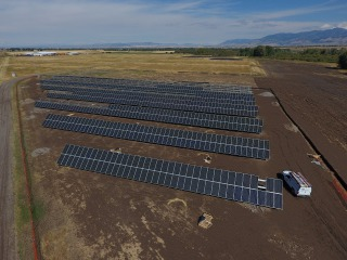 The solar array during construction