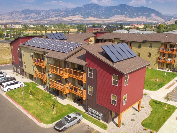 Solar hot water and solar electricity help keep costs down for renters