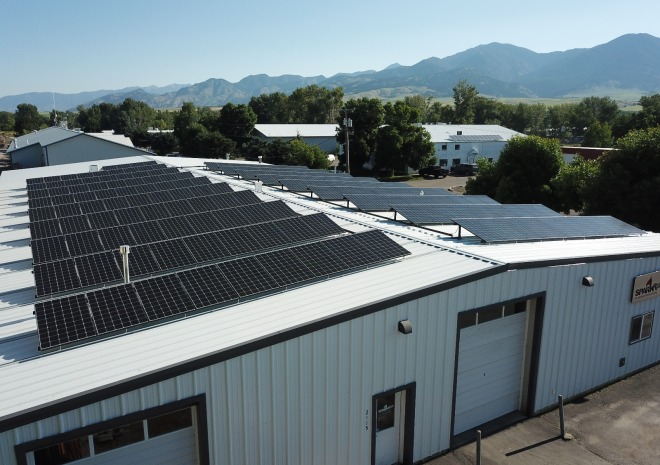 50 kW with a view of the Bridgers